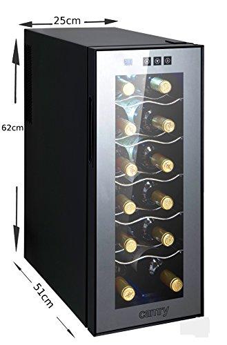 Weinkühlschrank 33 Liter 12 Flasche Weinkühler Weinklimakühlschrank Mini Kühlschrank Minibar mit Glastür LED Beleuchtung -