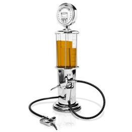 """Getränkespender im """"Tanksäule"""" Design - Silbern ca. 900 ml - Ausgefallene Zapfanlage für Hausbar und Partys - Grinscard - 1"""