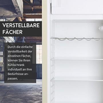 Vintage Industries ~ Retro-Kühlschrank Havanna 2017 in creme beige | 50er Jahre Look | Größe 152,5 cm | Kühl-Gefrier-Kombination 305l | Getränke-Kühlschrank mit Gefrierfach / Gefrierschrank 25l - 5