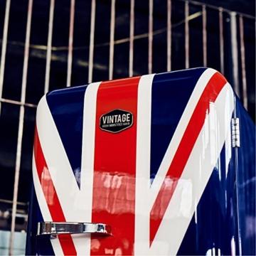 Vintage Industries ~ Retro-Kühlschrank Havanna 2017 mit Union Jack | 50er Jahre Look | Größe 152,5 cm | Kühl-Gefrier-Kombination 305l | Getränke-Kühlschrank mit Gefrierfach / Gefrierschrank 25l - 3
