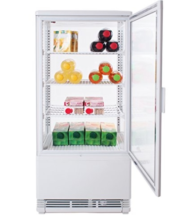 Zorro - Kühlvitrine weiß Kuchenvitrine Gastro - 80 Liter - R600A - 4-Seitig Doppelverglast - 2