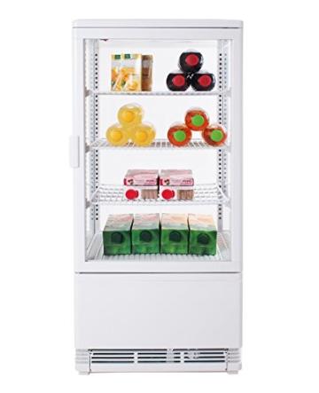 Zorro - Kühlvitrine weiß Kuchenvitrine Gastro - 80 Liter - R600A - 4-Seitig Doppelverglast - 4