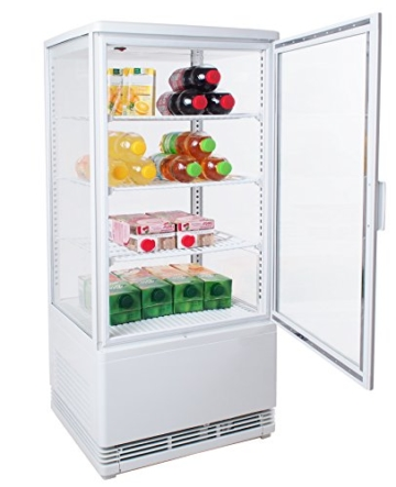 Zorro - Kühlvitrine weiß Kuchenvitrine Gastro - 80 Liter - R600A - 4-Seitig Doppelverglast - 1
