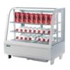 Kühlvitrine Kuchenvitrine weiß Tischmiodell 100L - 1