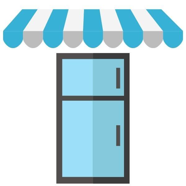 Getränkekühlschrank draußen - Überdachung