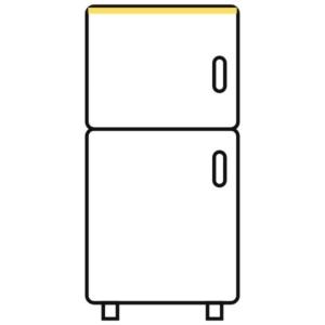 Getränkekühlschrank mit horizontaler Beleuchtung