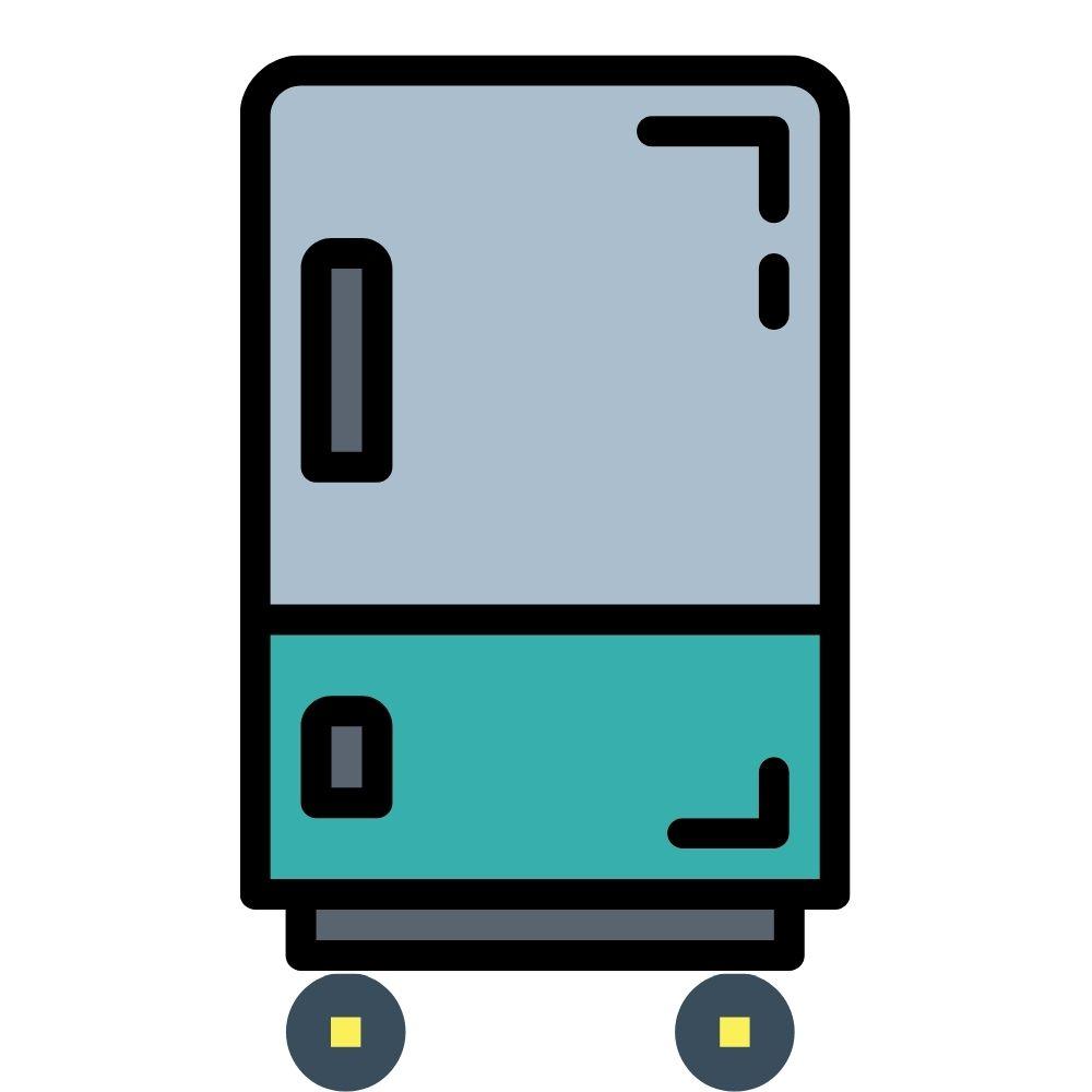 Getränkekühlschrank fahrbar mit Rollen Logo
