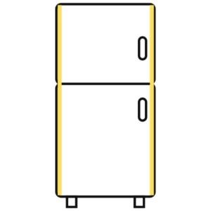 Getränkekühlschrank mit vertikaler Beleuchtung