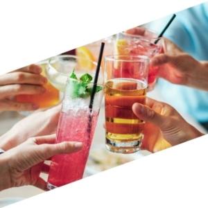 Drinks mit dem Getränkekühlschrank Schiebetür